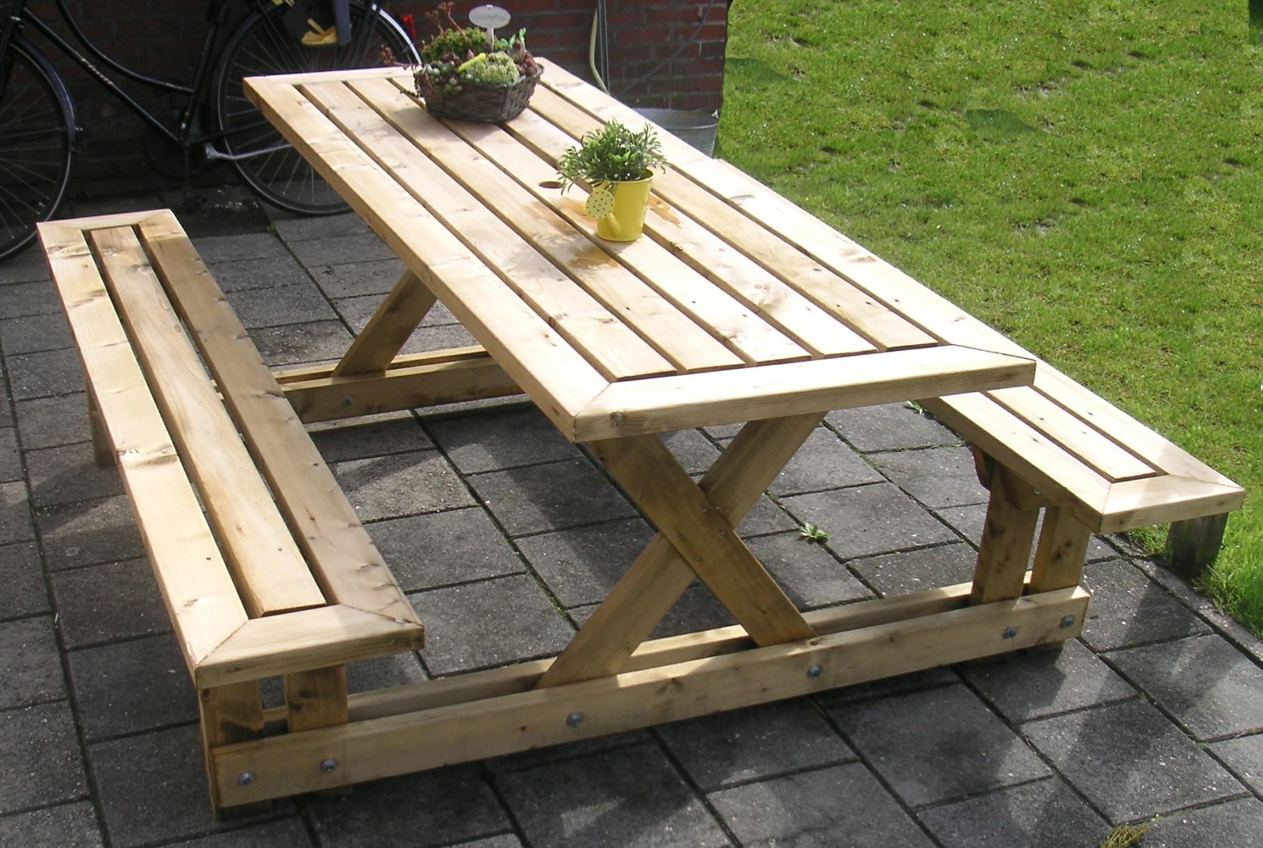 Как сделать стол и лавки