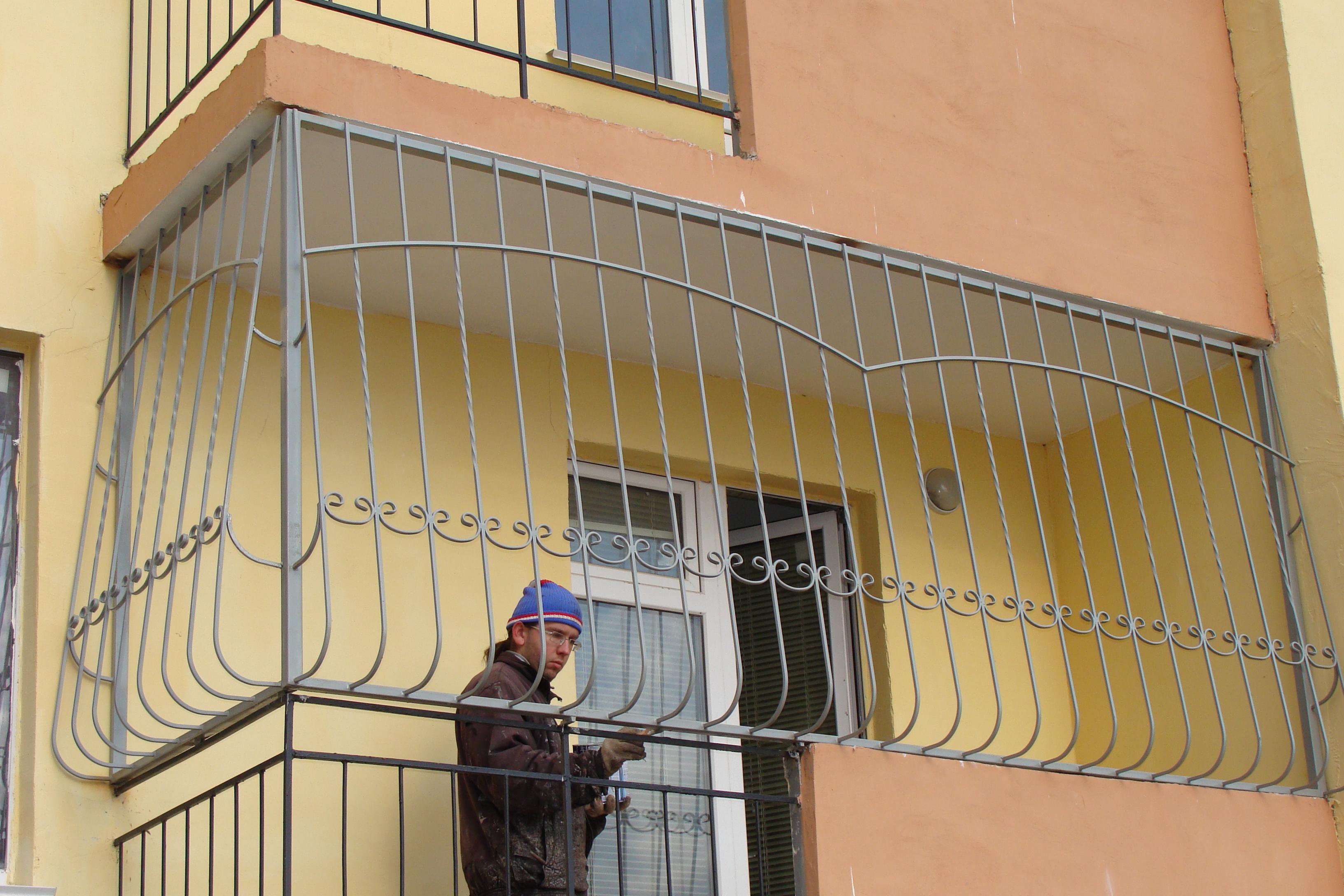 Решетки на окна, балкон, лоджию, двери, дверь решетка, устан.