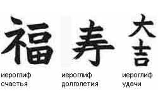 Иероглиф поздравление