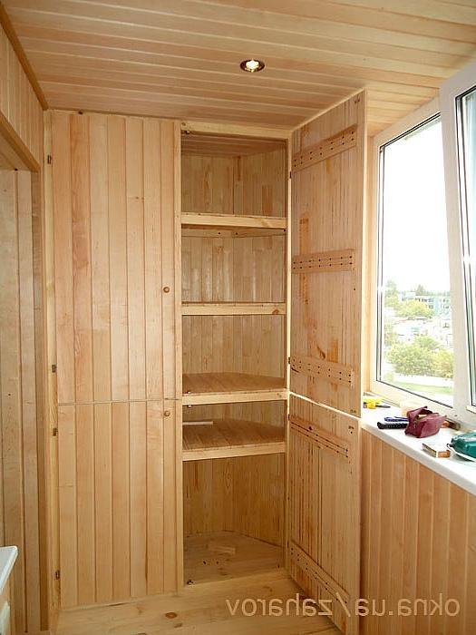 Как изготовить шкаф для балкона.