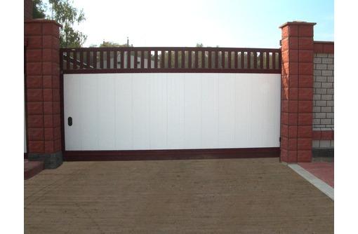 Изготовим и смонтируем: ворота и калитки распашные и откатные любой сложности:, фото — «Реклама Краснодара»
