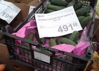 Краснодарцам становится плохо от одного взгляда на цену огурцов - 491 руб. СКРИНШОТ, фото — «Рекламы Кубани»