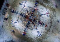 Автовладельцы Симферополя создали… огромную снежинку ВИДЕО, фото — «Рекламы Крыма»