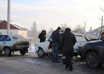 В Керчи столкнулось сразу четыре авто, фото — «Рекламы Крыма»