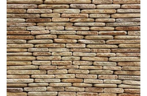 Фасадно-стеновая нарезка окатанная из песчаника, фото — «Реклама Севастополя»