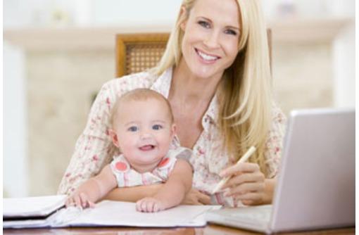 работа для молодых мам с детьми, фото — «Реклама Севастополя»