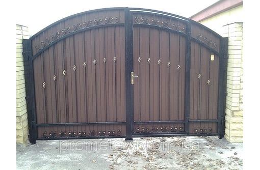 Металлические ворота и калитки, фото — «Реклама Алушты»