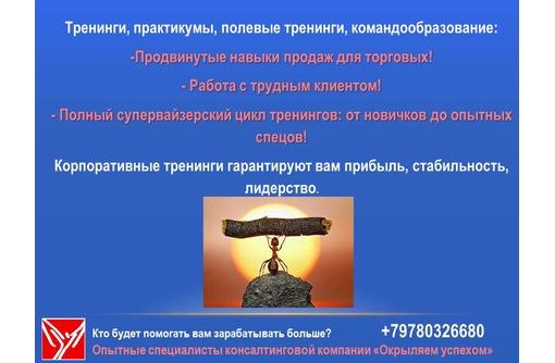 Тренинги в сфере дистрибуции Крыма: для супервайзеров, торговых представителей, фото — «Реклама Симферополя»