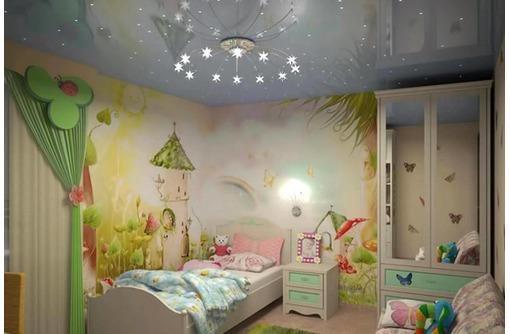 Европейские натяжные потолки в Детской, фото — «Реклама Евпатории»