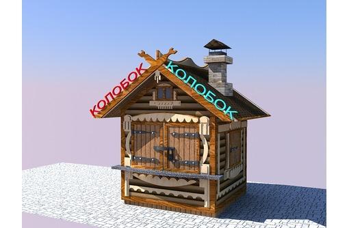 Строительство киоска из блок хауса, фото — «Реклама Севастополя»