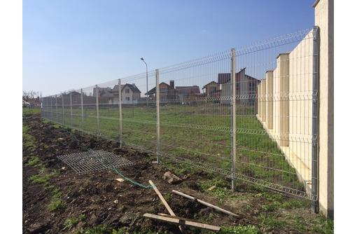 3Д забор, 3Д сварная панель 2430*2500*4 мм. Цинк, фото — «Реклама Керчи»