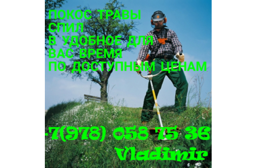 покос ТРАВЫ КРЫМ-СЕВАСТОПОЛЬ!!!, фото — «Реклама Севастополя»