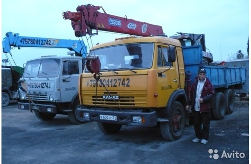 Аренда манипуляторов КАМАЗ, фото — «Реклама Севастополя»