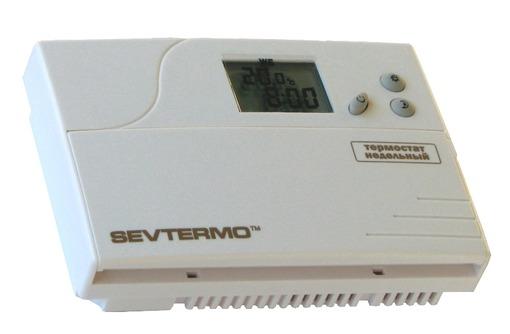 Комнатный термостат SEVTERMO ТПН-01 недельный программируемый, фото — «Реклама Севастополя»