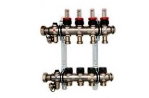 Коллектор Oventrop на 4 контура с расходомерами, фото — «Реклама Симферополя»