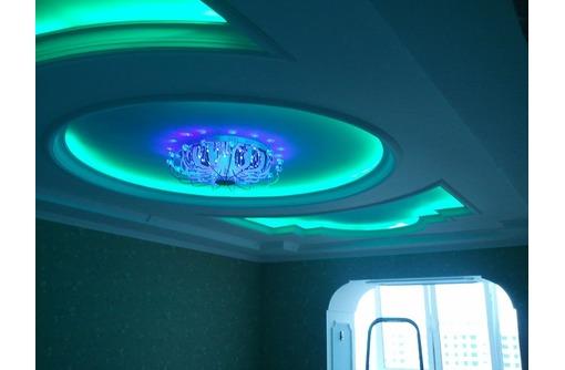 Натяжной потолок с подсветкой, фото — «Реклама Евпатории»