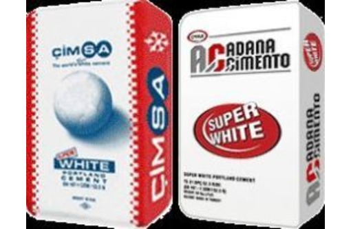 Белый цемент 50 кг. Адана (Турция), фото — «Реклама Симферополя»