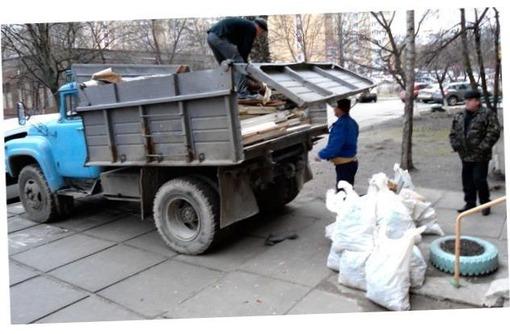 вывоз мусора, спуск мусора грузоперевозки, фото — «Реклама Севастополя»