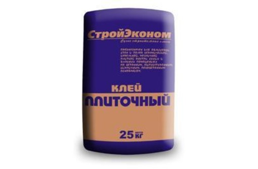 Клей для плитки Стройэконом, 25 кг, фото — «Реклама Севастополя»