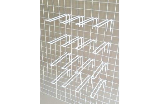 крючки ЯЗЫЧКОВЫЕ, БЕЛЫЕ, 3 ТИПА размеров - ДЛЯ ТОРГОВОЙ СЕТКИ-РЕШЕТКИ, фото — «Реклама Симферополя»