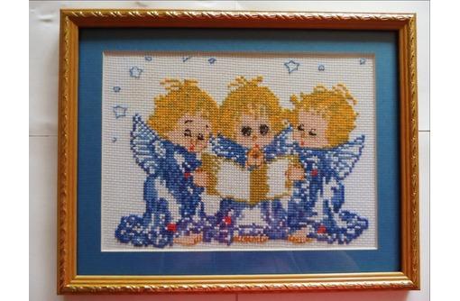 """Картина вышитая крестиком """"Ангелочки, фото — «Реклама Симферополя»"""