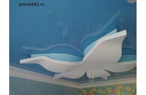 Натяжные потолки с гипоскартонными конструкциями, фото — «Реклама Красногвардейского»