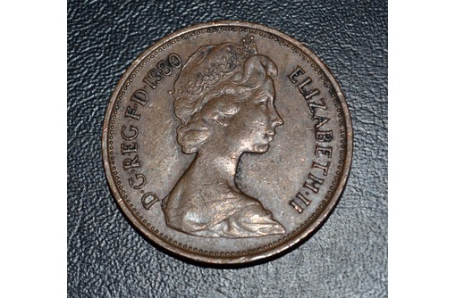 Великобритания 2 новых пенса 1980, фото — «Реклама Симферополя»