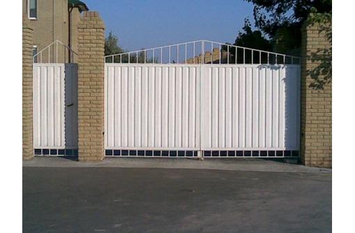 Ворота и калитки из профнастила, фото — «Реклама Севастополя»