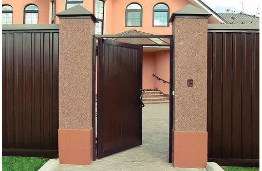 Калитки и ворота из профнастила, фото — «Реклама Севастополя»