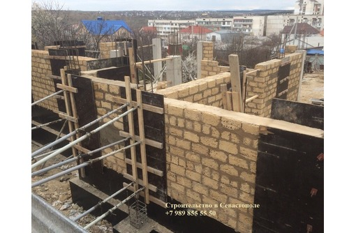 Строительство частных домов в Севастополе из ракушечника (ракушки / ракушняка), фото — «Реклама Севастополя»