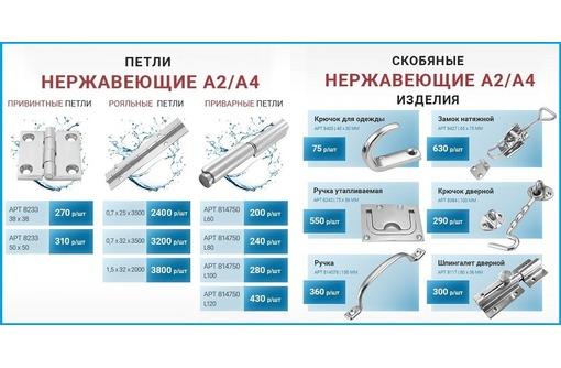 Петли из нержавеющей стали А2/А4, фото — «Реклама Севастополя»