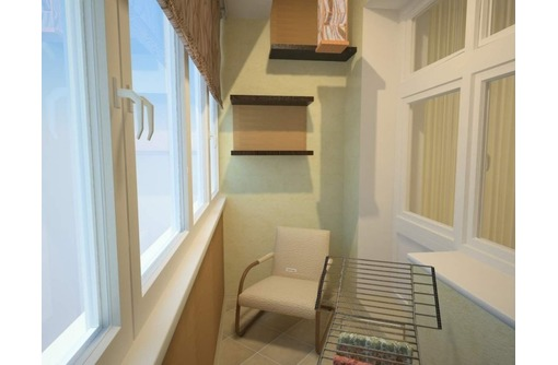 Внутренняя и внешняя отделка и обшивка балкона и лоджии, фото — «Реклама Феодосии»