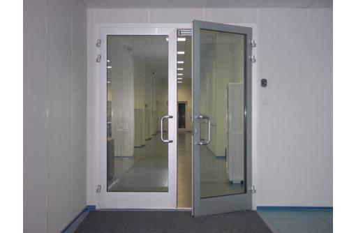Двери двустворчатые алюминиевая Алютех холодные, фото — «Реклама Севастополя»