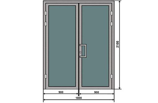 Двери двустворчатые алюминиевые Krauss тепл 2*2,2м, фото — «Реклама Севастополя»