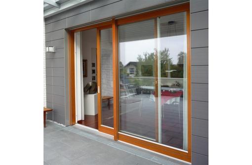 Двери раздвижные алюминиевые Alneo 2500*2500, фото — «Реклама Севастополя»