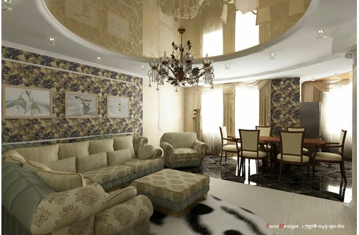 Европейские натяжные потолки  Polyplast. Pongs от LuxeDesign, фото — «Реклама Симферополя»