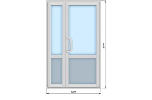 Двери одностворчатые алюминиевые Krauss теплые, фото — «Реклама Севастополя»