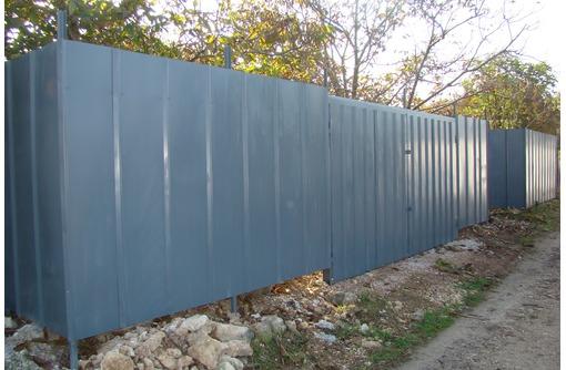 Заборы из профнастила,сетка рабица., фото — «Реклама Севастополя»