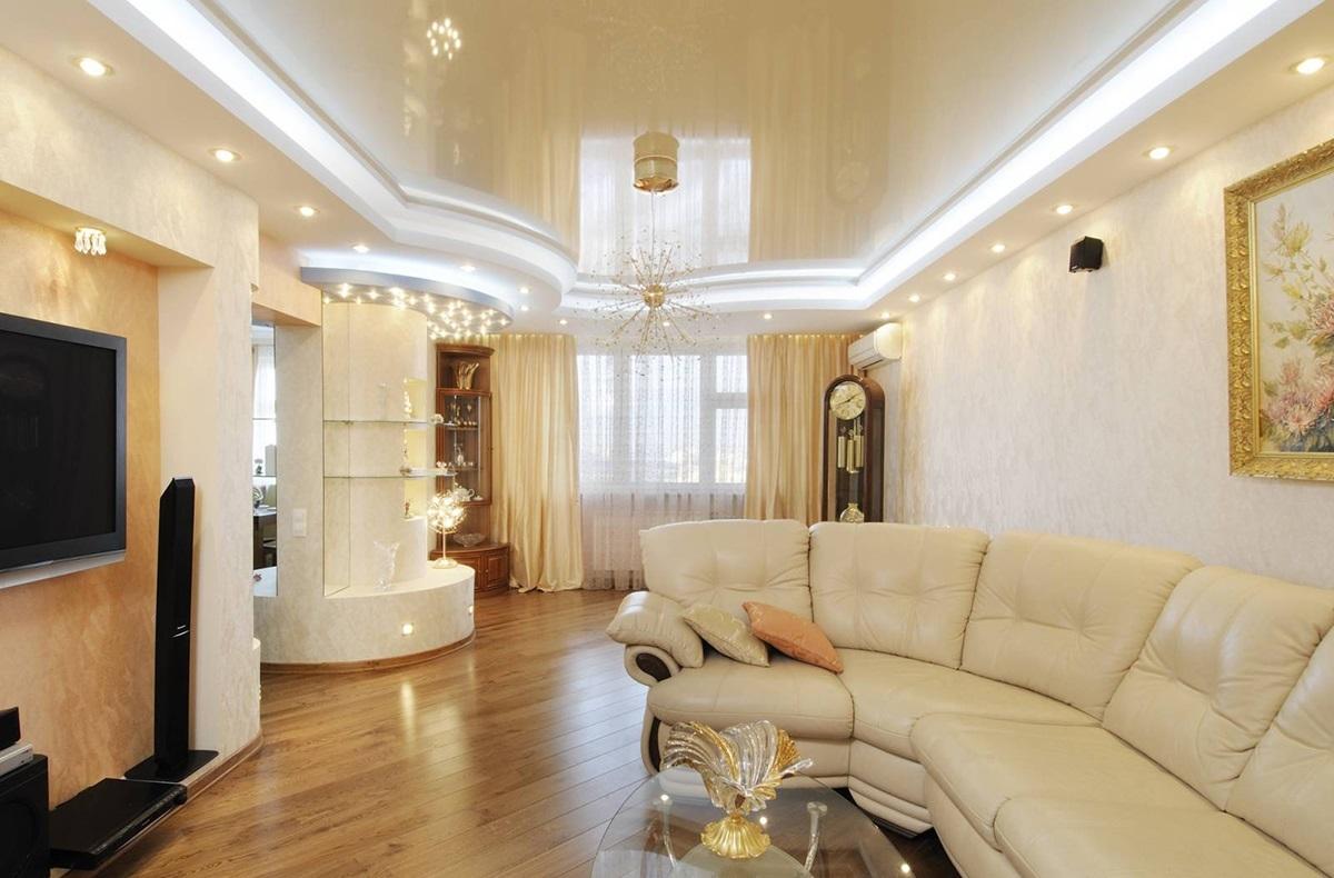 фото квартир с натяжными потолками москва дают