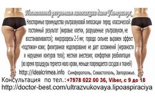 Ультразвуковая липосакция. Красивое тело всем к лицу! Крым., фото — «Реклама Севастополя»