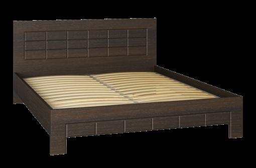 Кровать Изабель ИЗ-323K (2000x1600) орех темный. Распродажа на мебельной фабрике Компасс, фото — «Реклама Севастополя»