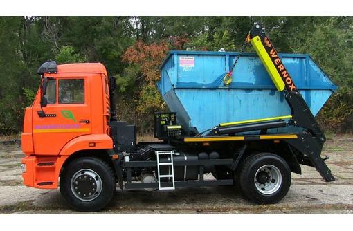 Вывоз строительного мусора грунта земли бункер 8м3, фото — «Реклама Алушты»