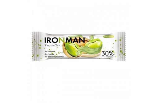 IRONMAN™ протеиновый батончик без глазури (фисташка) - 50 г, фото — «Реклама Севастополя»