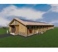 Проект одноэтажной деревянной конюшни на 20 лошадей - Услуги по недвижимости в Севастополе