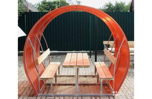 Новые садовые беседки со столиком и лавкой, фото — «Реклама Алупки»