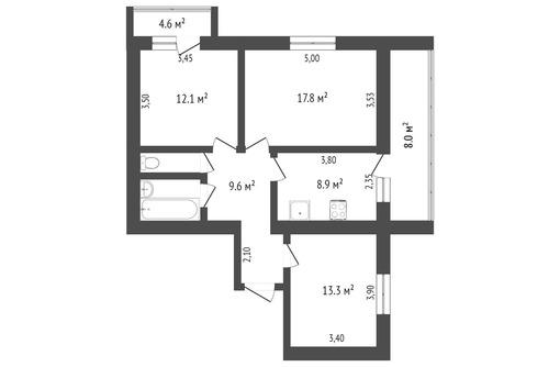 Отличная планировка - -квартира г. Алушта, фото — «Реклама Алушты»