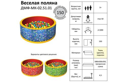 СУХОЙ БАССЕЙН С ШАРИКАМИ «ВЕСЕЛАЯ ПОЛЯНКА» купить в Серпухове