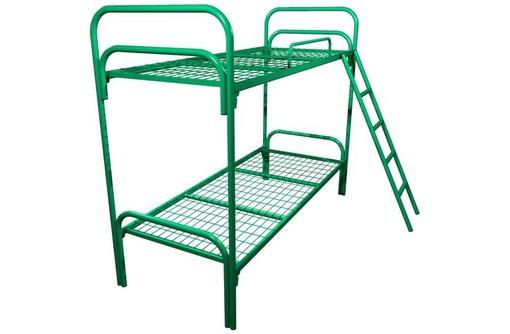 Кровати металлические для бытовок, кровати трёхъярусные для рабочих, кровати одноярусные оптом, фото — «Реклама Джанкоя»