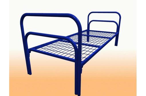 Двухъярусные железные кровати, для казарм, металлические кровати с ДСП спинками, кровати для бытовок, фото — «Реклама Алупки»