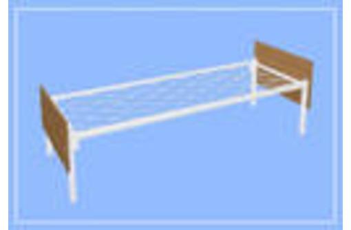 Металлические кровати с ДСП спинками для пансионатов, кровати для гостиниц, кровати для студентов, фото — «Реклама Приморского»